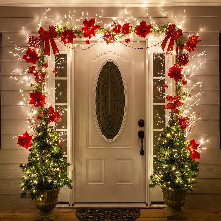 Ideas para decorar tu puerta esta Navidad 2019 - Decoración Navideña